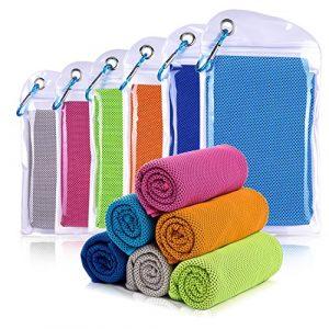 Willceal Serviette de refroidissement pour sports, entraînement, Voyage, fitness, gym, yoga, Pilates, camping, et bien plus encore 30x100cm, bleu ciel