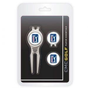 CMC Golf PGA Tour Cool Outil, Cap Clip et marqueur de balle Clamshell Lot