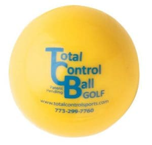contrôle Total Sports Balle de Golf avec Red Dot (Lot de 6), Jaune