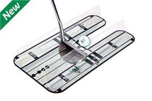 Golf Entrainement Putting | Putting Kit Haut de Gamme – Golf XL Miroir d'Alignement pour Le Putting avec Système de Rails de Guidage réglables. Parfait pout perfectionner Votre Arc de Swing au Putting