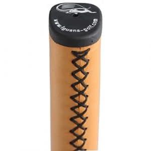 Iguana Putter de golf — Tour Cuir Grip- fabriqué avec véritable Cuir de vachette, Orange / black