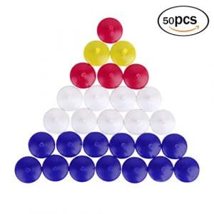 LightFast Marqueurs de Balle de Golf en Plastique en Forme de Rond de Couleur mélangée 50pcs 0.71 Pouce