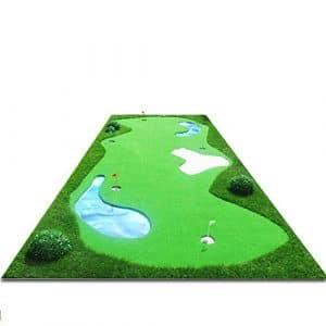 LIUDADA Tapis d'entraînement de Golf – Couverture d'exercice pour l'exercice de Mise au Golf en intérieur Mini Couverture Artificielle Gazon Vert (Taille : 2 * 5M)