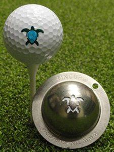 Tin Cup marqueur de Balle de Golf Personnalisés d'alignement Outil Modèles, Homme Mixte Adulte, Honu Turtle