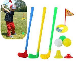 WJkuku Plastique Golf Définit, Willway Clubs de Golf Jouets éducatifs pour Les Tout-Petits Enfants Enfants
