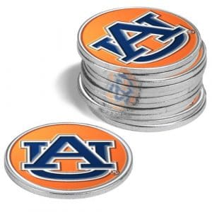 Auburn Tigers Balle de golf marqueurs (lot de 4)
