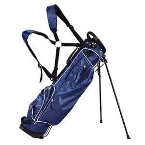Blitzzauber 24 Sac de Golf Trépied Arrangement de Golf avec Support de Pied Noir/Bleu (Bleu)