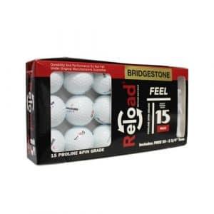 Bridgestone 15bkrdrlw30tbx-rf-prov1-com Lot de 15balles de Golf de E6de Golf de récupération avec 23/10,2cm Bois Tees