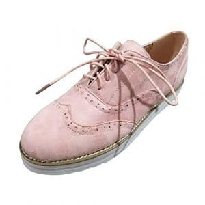 CIELLTE Chaussures Chaussures de Ville Femme Automne Hiver à Lacets Classiques Élégant Casual Oxford Sneakers Chaussures Habillée