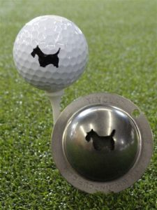 Coupe en métal Scotty le marqueur balle de golf Terrier Custom alignement Outil