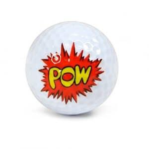 éraflures Underground Novelty Balles de Golf–POW Wow Lot de 3écran Tube # Nug36