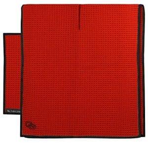 Gant de club de golf en microfibre Caddy et de serviette de poche, RETAIL MICROFIBER TANDEM TOWEL SET RED, Red, 17 Inches x 14 Inches