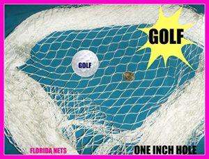 Golf Filet Lacrosse, cage, hockey et filet de sports, la pêche filets Choisissez votre Longueur., blanc