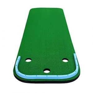 Golf Putting Green, Tapis de intérieurs Couvertures de Pratique familiale Portable Edition Bureau Entraîneur de Putting Mini Set Vert Tapis de Pratique de Multifonctionnel Entraîneur de