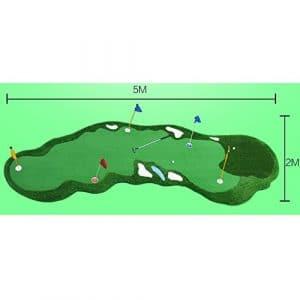 GXY Slope Putter Artificielle Golf Vert 2 * 5m Pente Section Tapis de Golf