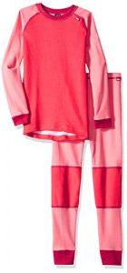 Helly Hansen K HH LIFA Merino Set sous-vêtement Mixte Enfant, Strawberry Pink, FR Fabricant : Taille Unique