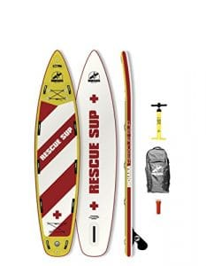 Indiana 11'6Rescue gonflable Sup Board (incl. Back Pack with Wheels, pompe, fin & Rep. Kit)