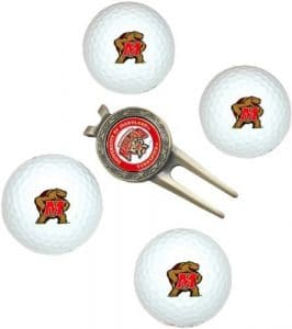 NCAA Maryland 4-Pack Team Golf Ball Gift Set by Team Golf