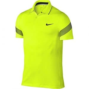 Nike Mm Fly Framing Commander – Polo à Manches Courtes Homme, Couleur Jaune, Taille L