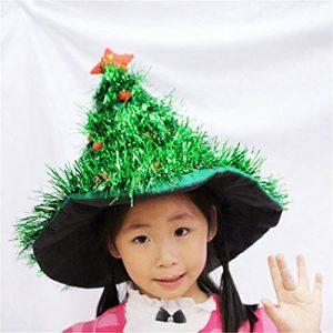 STZHIJIA Chapeau De Noël avec Sapin De Noël Nouvel an Hat Forme Famille Cadeaux Party Hat C