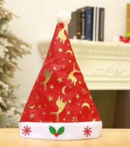 STZHIJIA Christmas Hat Santa Hat Cadeau Nouvel an Mode Unisexe