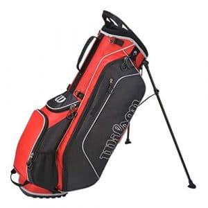 Wilson Golf WGB3307BL Sac Homme, Noir/Argent, Taille Unique