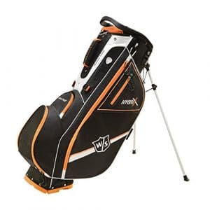 Wilson Golf WGB5800OR Sac de Golf Homme, Noir/Orange