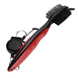 Bescita populaire Brosse de nettoyage de golf Club Groove Cleaner rétractable VIRB Elite Mousqueton, Red