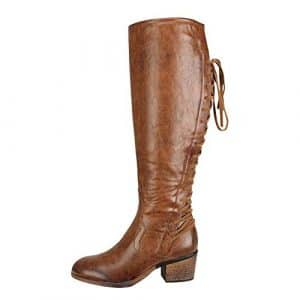 Bottes Longue CIELLTE Femme Bottes d'hiver Vintage Bottines Boots Chaussures de Ville Haute Bottes Dessus Genou Haute Bottes