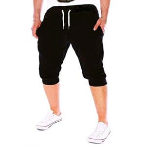 CIELLTE Homme Pantalon Court,Short Bermuda Décontracté Short Sport Homme Jogging Casual Slim Fit Pantacourt Multi Poches Grand Taille