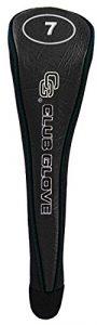 Gant de club de golf bois de parcours # 7Tête Coque, mixte, noir