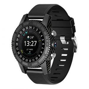 I8 I7 4G Smart Watch AMOLED écran rond 1 + 16 Go Android 7.0 Moniteur de fréquence cardiaque IP67 étanche Système de positionnement mondial PC + ABS Bracelet: Support de caméra de soutien de sangle de silicone Vibrateur Magnétique Touch Charge Moniteur de fréquence cardiaque Capteur Podomètre (Noir)