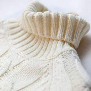 Langmotai Pull en tricot Pull À Col Roulé des Hommes d'hiver Casual Pur Couleur Grand Épais Stretch Manches Longues en Tricot Pull, Blanc, M