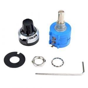 liekkaso 3590 10 Turn Potentiometer 10k Ohm Wirewound Multiturn Adjustable Resistor Precision with Rotary Dial Knob 6mm Shaft