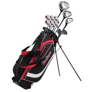 MacGregor Golf 2018 Mens CG2000 Complete Package Set – LH Steel/Stand Bag-6-SW – Black/Red