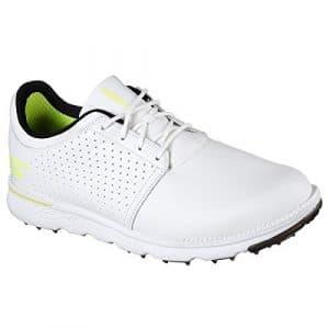 Skechers Go Golf Elite 3 Approach LX, Chaussures de Golf Homme – Blanc – Blanc/Noir, 42.5 EU