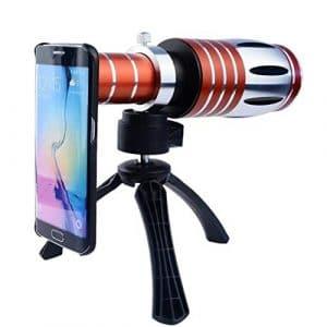 Télescope Optique Externe Smartphone téléobjectif 50X HD imperméable monoculaire télescope pour Adultes randonnée de Noël Nouvel an Cadeau pour Enfants
