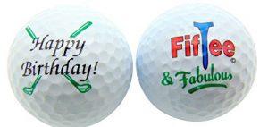 Westman Works 50e Anniversaire Fiftee & Fabulous Lot DE 2Balle de Golf Golfeur Cadeau Lot