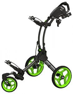 2016 Clicgear Rovic RV1S 3-Wheel Pull/Push Golf Trolley/Cart Charcoal/Lime