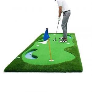 ADDS Entraînement Simulé De Putter Vert, Tapis De Balle De Pratique De Golf en Salle (1,5 * 3,75 M)