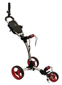 Axglo Trilite Chariot de Golf Mixte Adulte, Gris/Rouge