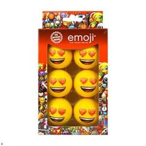 Emoji Coussin cœur Unisexe Lot de 6Eyes Fantaisie de balles de Golf, Multicolore