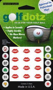 Golfdotz Stickers décoratifs pour balles de golf Hot Lips
