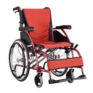 HEUFHU888 Fauteuil Roulant portatif Manuel adapté aux Personnes âgées (Couleur : Red)