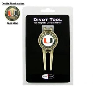 Miami Hurricanes Divot Tool and Ball Marker by Team Golf