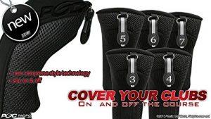 Noir tous les hybride Couvre-fer Lot de 34567Tête de Couvertures de club de golf Housse en néoprène en maille 3–7Complete
