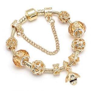 QWERST Bracelet Nouveaux Bijoux Célèbre Bracelet Femmes Bracelets Or Fin,19Cm