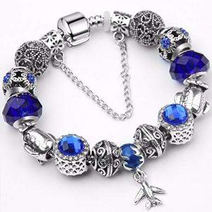 QWERST Bracelets Femmes Fashion Classic Vintage Bracelet Pendentif DIY Bijoux Exquis Cadeau 17Cm