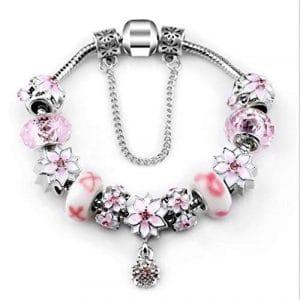 QWERST Mode Rhinestone Bracelet Breloques Bijoux Bricolage Femmes 23Cm