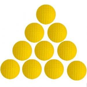 Reekey Lot de 20 balles de Golf en Mousse polyuréthane pour intérieur Jaune